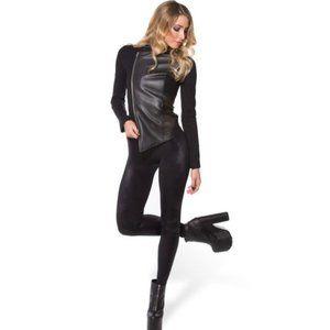 BlackMilk Rockstar Leather Black Leather Jacket XS
